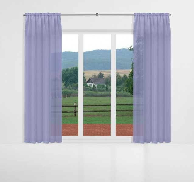 vorhang nach ma mit tunnel voile blau bell alma gardinen nach ma mit tunnel k pfchen. Black Bedroom Furniture Sets. Home Design Ideas