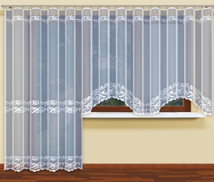 fertig gardine mit universal gardinenband jacquard halbtransparent stoff wei athena. Black Bedroom Furniture Sets. Home Design Ideas