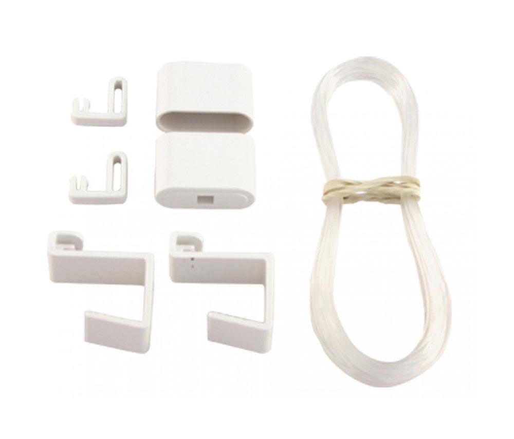 pendelsicherung f r rollo ohne bohren easyfix wei sale bn gardinen online shop. Black Bedroom Furniture Sets. Home Design Ideas
