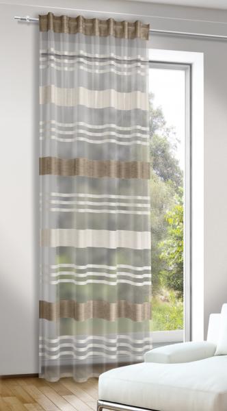 schlaufenschal mit verdeckten schlaufen semi voile transparenter stoff groan. Black Bedroom Furniture Sets. Home Design Ideas
