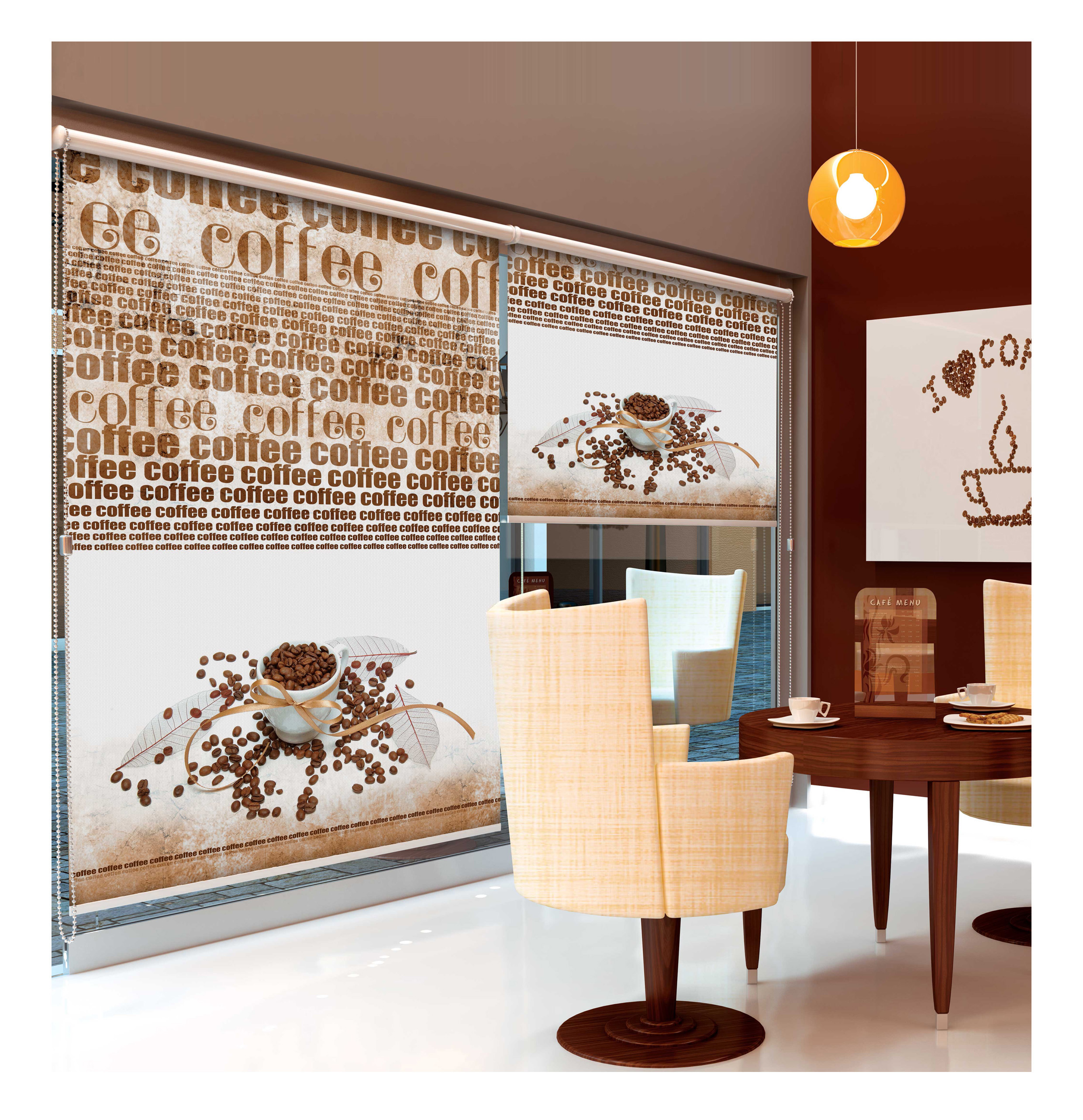 blickdicht klemmfix sichtschutzrollo ohne bohren mit kettenzug sargasso sale bn gardinen. Black Bedroom Furniture Sets. Home Design Ideas