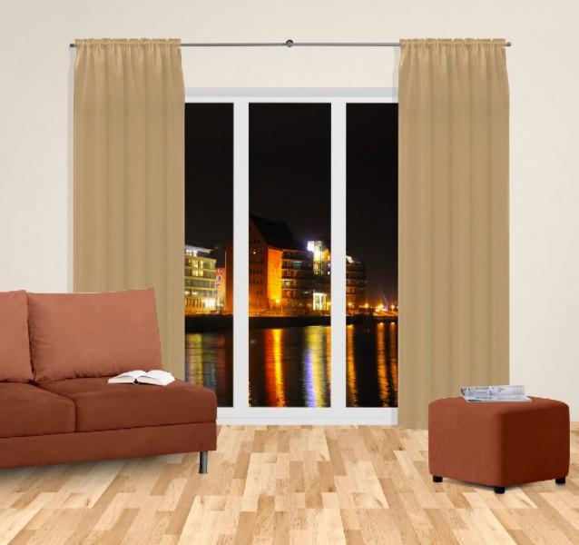 gardine nach ma mit tunnel k pfchen blickdicht verdunkelung gold tumbleweed braun sil. Black Bedroom Furniture Sets. Home Design Ideas