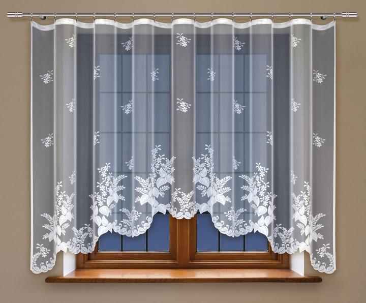 bogenstore f r blumenfenstergardine mit gardinenband jacquard halbtransparent stoff wei agna. Black Bedroom Furniture Sets. Home Design Ideas