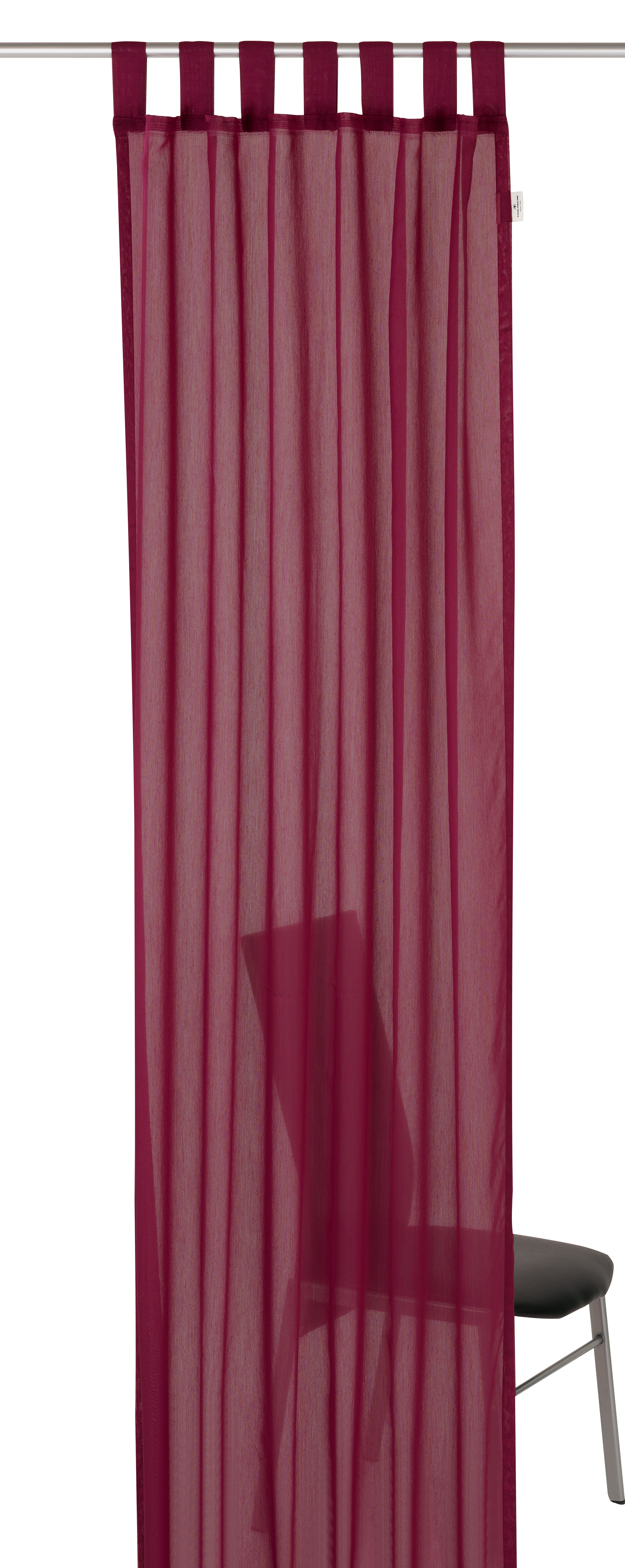 schlaufenschal t plain uni bordeaux sale bn gardinen online shop. Black Bedroom Furniture Sets. Home Design Ideas