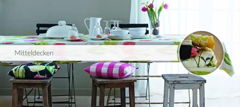 Mitteldecken tischdecken wohnaccessoires textilien for Wohnaccessoires shop