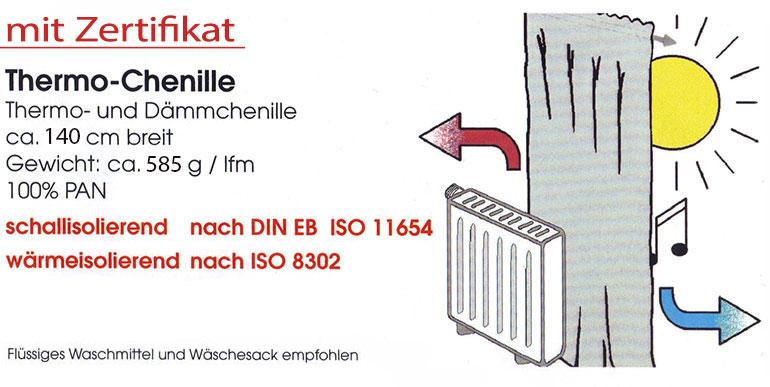 thermo chenille blickdicht meterware natur inuk. Black Bedroom Furniture Sets. Home Design Ideas