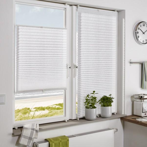 plissee ohne bohren blickdicht ausbrenner dot wei easyfix plissee ohne bohren plissees. Black Bedroom Furniture Sets. Home Design Ideas