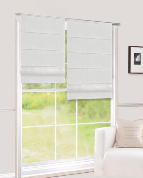raffrollo ohne bohren blickdichter stoff wei nara raffrollos raffgardinen einfarbig. Black Bedroom Furniture Sets. Home Design Ideas