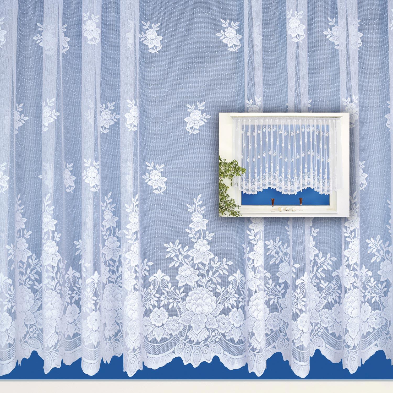 Bogenstores Blumenfenster Fertiggardinen Vorhänge Gardinen