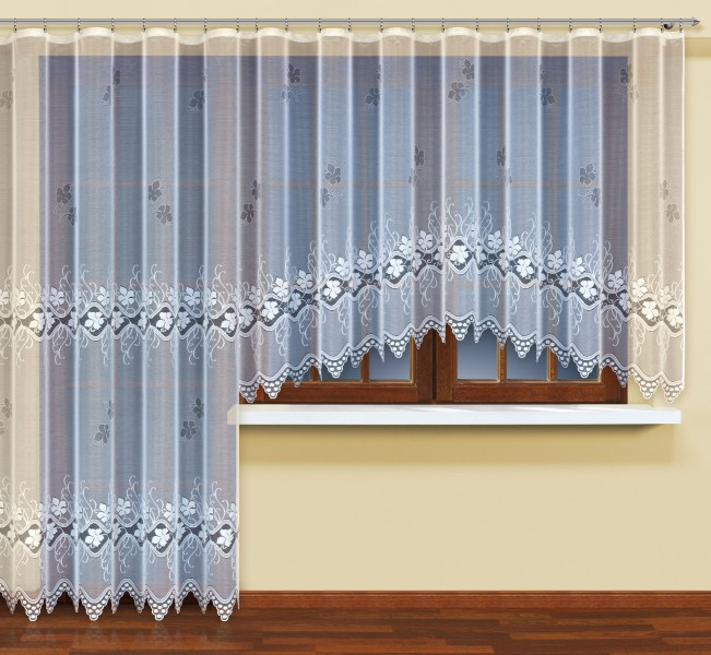 fertig gardine mit gardinenband jacquard halbtransparent stoff wei artemis klassisch. Black Bedroom Furniture Sets. Home Design Ideas