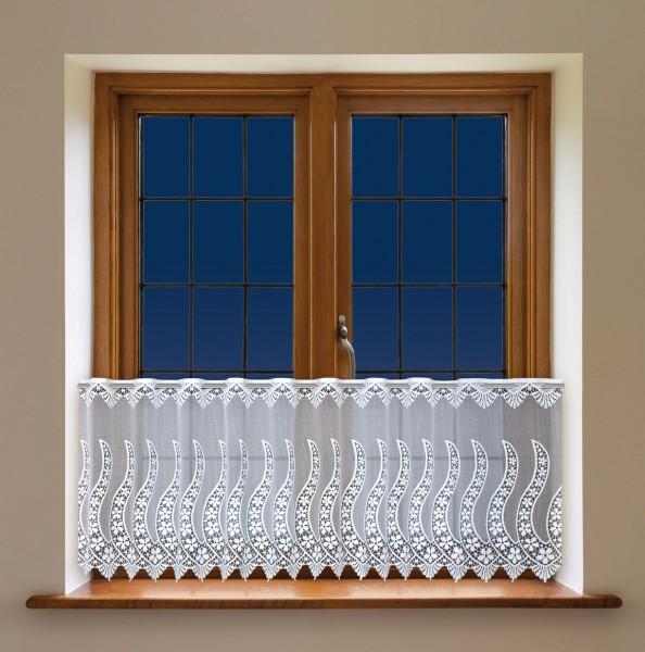 meterware scheibengardine stangendurchzug jacquardstoff wei flor ca scheibengardinen. Black Bedroom Furniture Sets. Home Design Ideas