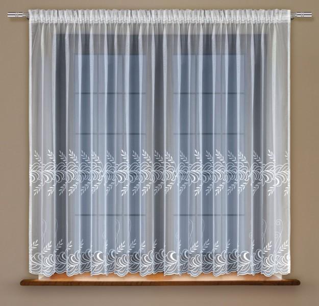 fertig gardine mit universalschienenband stickerei halbtransparent stoff wei camenta. Black Bedroom Furniture Sets. Home Design Ideas