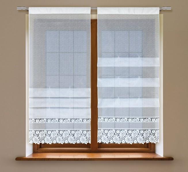 clipstore jacquard halbtransparent stoff mit tunnel wei sophy scheibengardinen. Black Bedroom Furniture Sets. Home Design Ideas