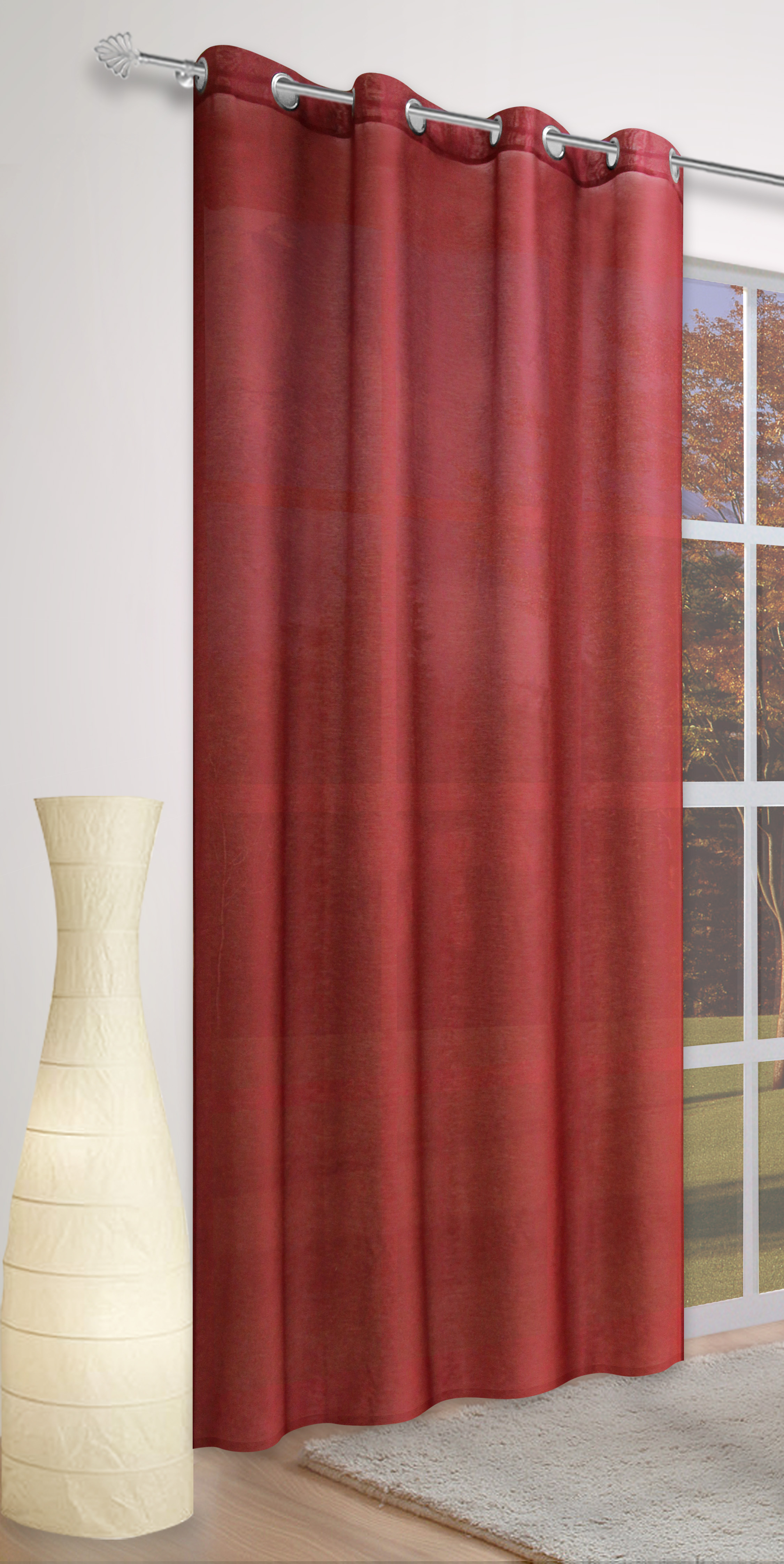 senvorhang einfarbig blickdicht sable rot valor sale bn gardinen online shop. Black Bedroom Furniture Sets. Home Design Ideas