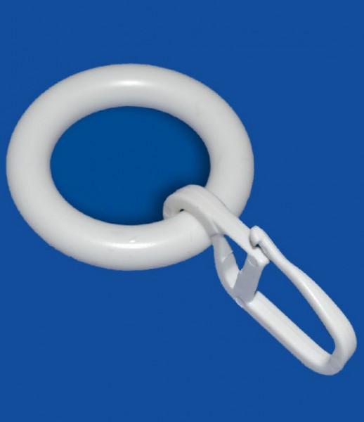 ring mit haken wei ringe zubeh r f r gardinen zubeh r accessoires gardinen vorh nge. Black Bedroom Furniture Sets. Home Design Ideas