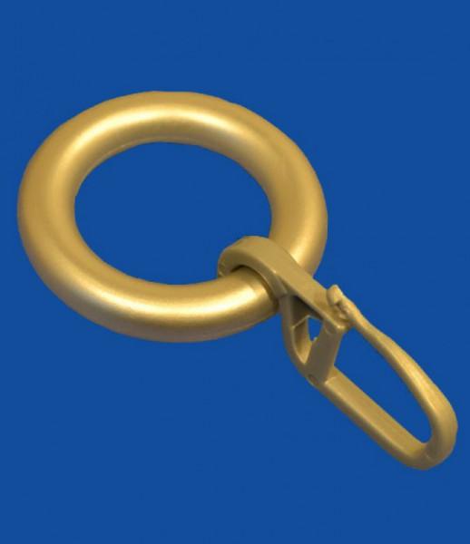 ring mit haken messing matt ringe zubeh r f r gardinen zubeh r accessoires gardinen. Black Bedroom Furniture Sets. Home Design Ideas