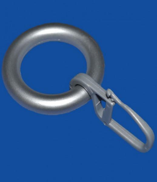 ring mit haken nickel matt ringe zubeh r f r gardinen. Black Bedroom Furniture Sets. Home Design Ideas