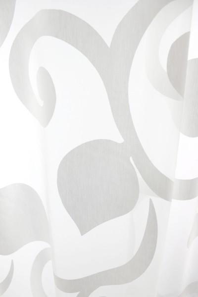 gardinen nach ma mit kr uselband ausbrenner voile wei. Black Bedroom Furniture Sets. Home Design Ideas