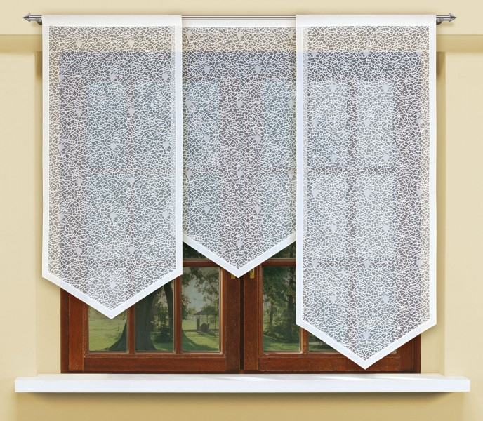 schiebegardine jacquard halbtransparenter stoff wei. Black Bedroom Furniture Sets. Home Design Ideas