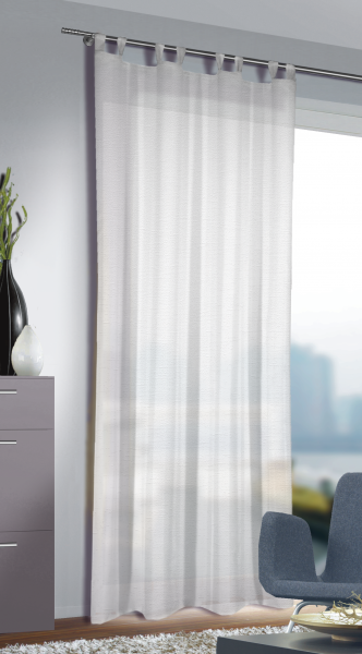 schlaufenschal naturoptik blickdichter stoff alca schlaufenschals einfarbig. Black Bedroom Furniture Sets. Home Design Ideas
