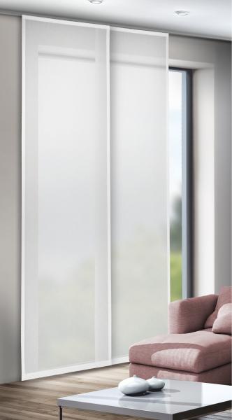 schiebegardine uni voile halbtransparenter stoff wei vittoria schiebegardinen einfarbig. Black Bedroom Furniture Sets. Home Design Ideas