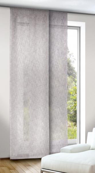 schiebegardine naturoptik halbtransparenter stoff mit. Black Bedroom Furniture Sets. Home Design Ideas