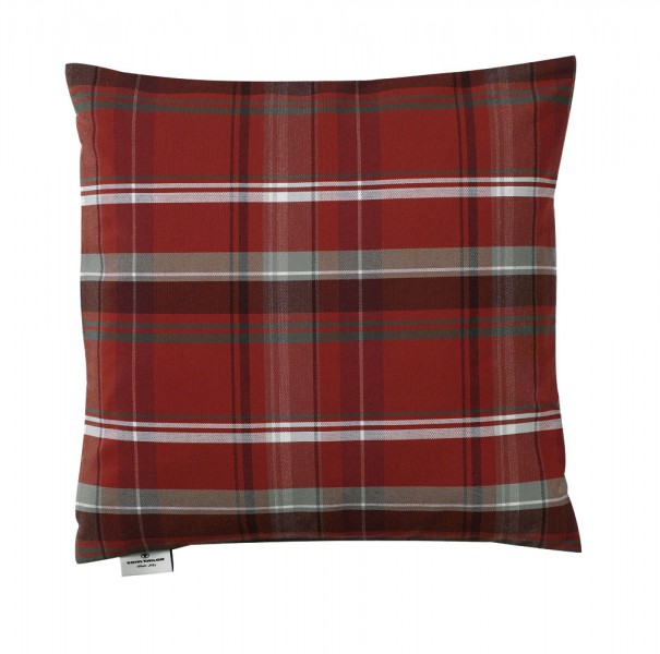kissen 40 x 40 kissen tom tailor t new check rot kissen. Black Bedroom Furniture Sets. Home Design Ideas