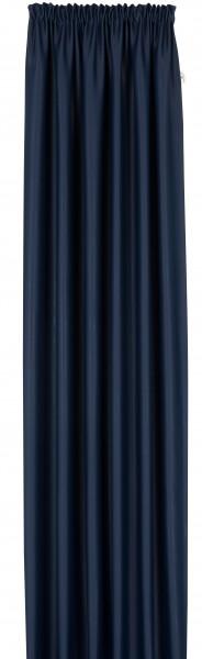 Verdunkelungsvorhang uni dunkelblau kr uselband for Verdunkelungsvorhang blau