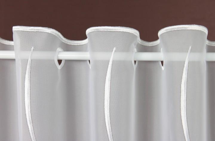 scheibengardine wei assos h he 30 cm scheibengardinen. Black Bedroom Furniture Sets. Home Design Ideas