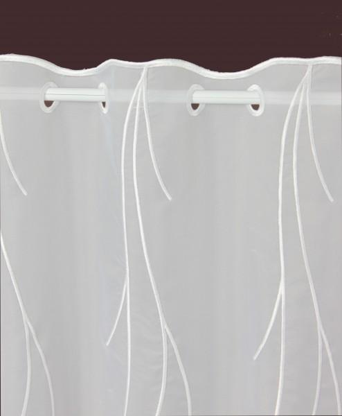 scheibengardine nach ma wei kalamos h he 55cm. Black Bedroom Furniture Sets. Home Design Ideas