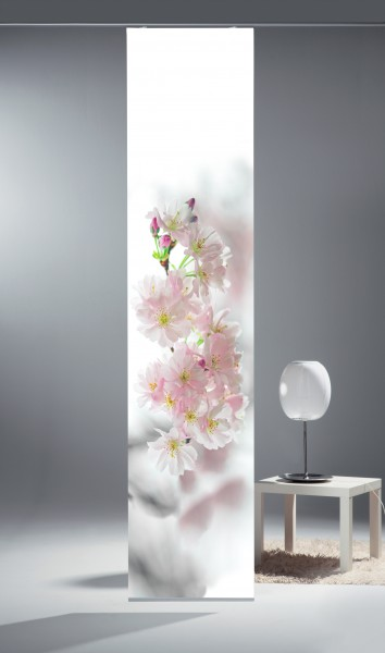 schiebegardine digital bedruckt blickdicht mit flauschband inkl zubeh r belinda. Black Bedroom Furniture Sets. Home Design Ideas