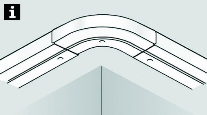 rundbogen 2 l ufig f r verl ngerung wei 13 5 13 5. Black Bedroom Furniture Sets. Home Design Ideas