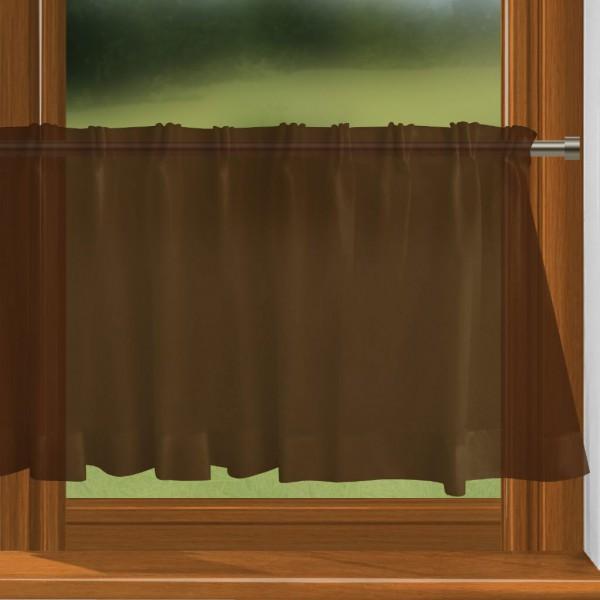 scheibengardine nach ma mit durchzug schokobraun charme. Black Bedroom Furniture Sets. Home Design Ideas