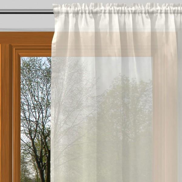 gardine nach ma mit tunnel voile bl tenwei natur alma. Black Bedroom Furniture Sets. Home Design Ideas