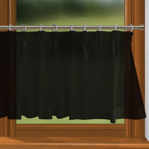 scheibengardine nach ma mit durchzug schwarz charme. Black Bedroom Furniture Sets. Home Design Ideas