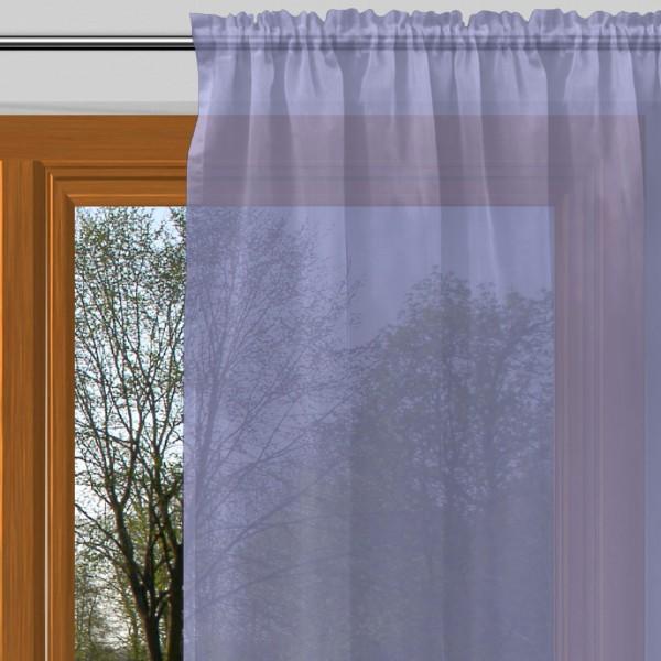 vorhang nach ma mit tunnel voile blau bell alma. Black Bedroom Furniture Sets. Home Design Ideas