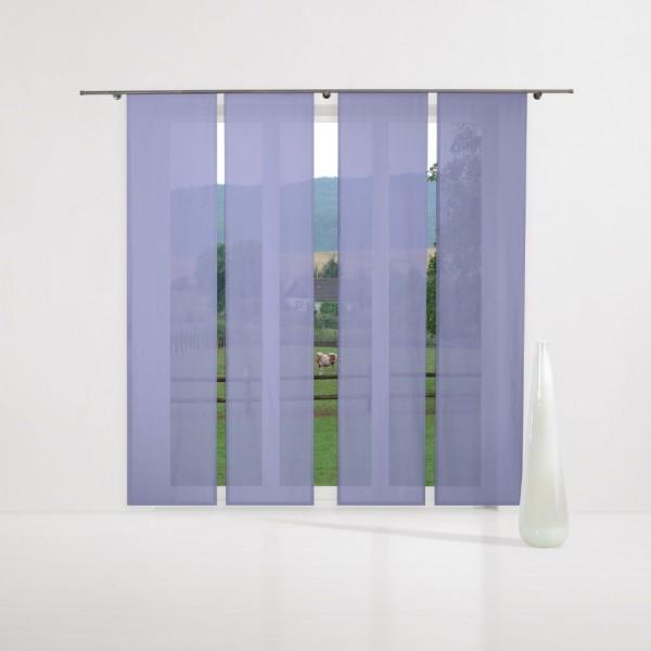 gardinen uni voile nach ma schiebegardine komplettset blau bell gardinen nach ma. Black Bedroom Furniture Sets. Home Design Ideas