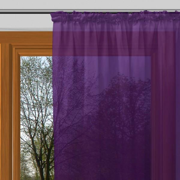 gardinen uni voile nach ma kr uselband voile kristallviolett signum gardinen nach ma mit. Black Bedroom Furniture Sets. Home Design Ideas