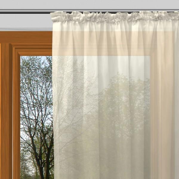 gardinen uni voile nach ma kr uselband voile helles. Black Bedroom Furniture Sets. Home Design Ideas