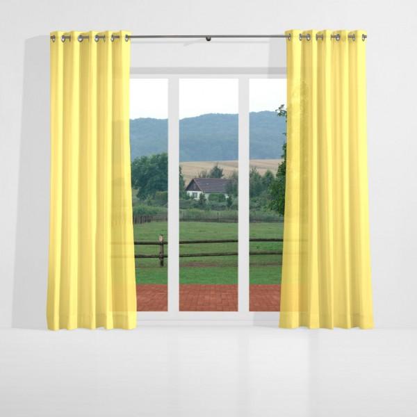 gelbe gardinen excellent nibesser gardinen transparent vorhang einfarbige gardine dekoschal. Black Bedroom Furniture Sets. Home Design Ideas
