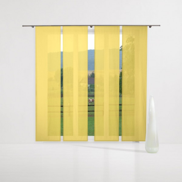 gardinen uni voile nach ma schiebegardine komplettset dandelion gelb gardinen nach ma. Black Bedroom Furniture Sets. Home Design Ideas