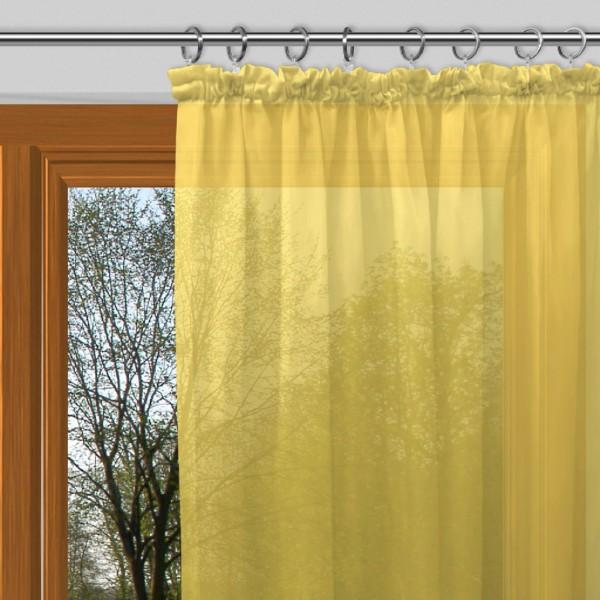 gardinen uni voile nach ma kr uselband voile dandelion gelb signum gardinen nach ma mit. Black Bedroom Furniture Sets. Home Design Ideas