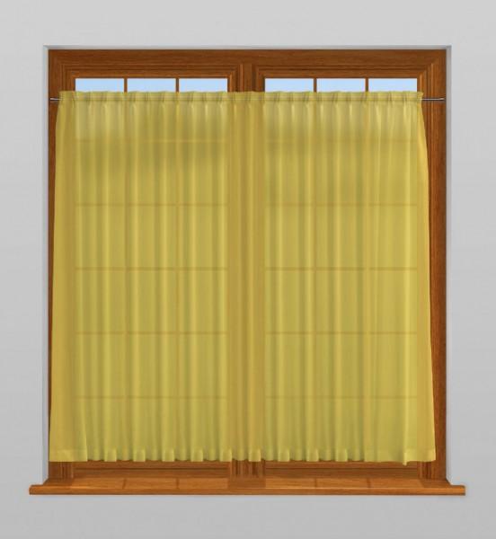 scheibengardine nach ma mit durchzug dandelion gelb. Black Bedroom Furniture Sets. Home Design Ideas