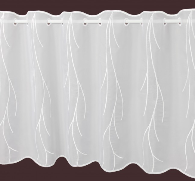 scheibengardine wei kalamos h he 55cm scheibengardinen meterware gardinenstoffe. Black Bedroom Furniture Sets. Home Design Ideas