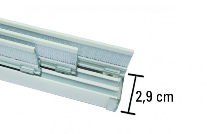 fl chenvorhangschiene komfort 3 l ufig komplett set aluminium l nge 170 cm. Black Bedroom Furniture Sets. Home Design Ideas