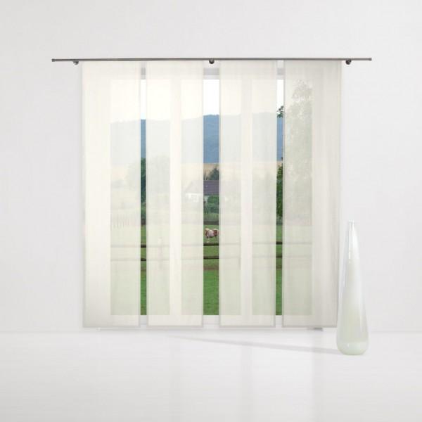 gardinenstoff ezel halbtransparent uni voile bl tenwei. Black Bedroom Furniture Sets. Home Design Ideas