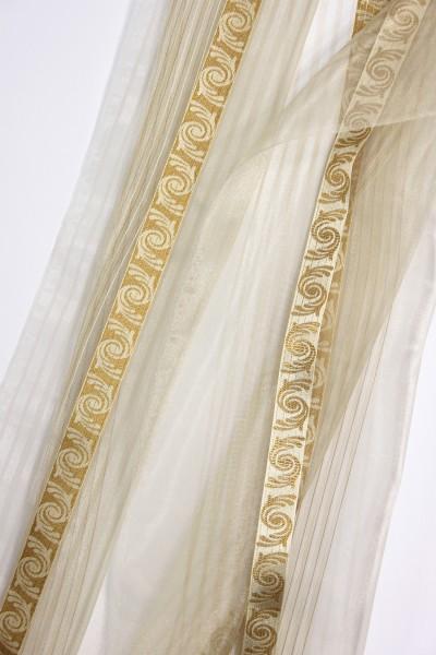 gardinenstoff meterware batur phantasiet ll semi organza gold top qualit t gardinenstoffe. Black Bedroom Furniture Sets. Home Design Ideas