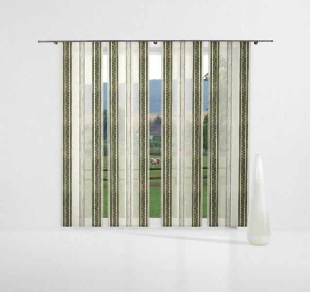 gardinenstoff afrodit phantasiet ll semi organza gr n top. Black Bedroom Furniture Sets. Home Design Ideas