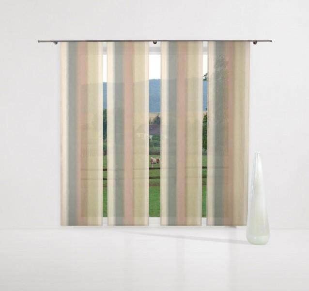 gardinen deko gardinen gr n braun gardinen dekoration. Black Bedroom Furniture Sets. Home Design Ideas