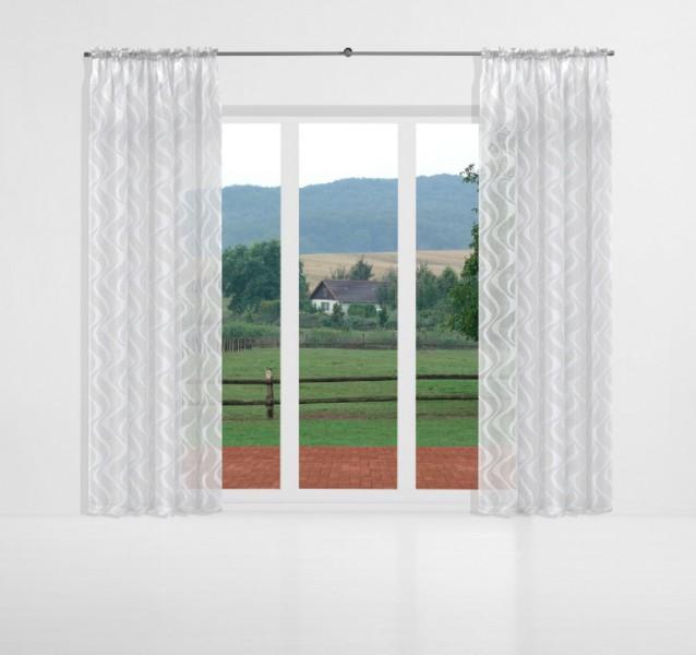 vorhang weiß kräuselband